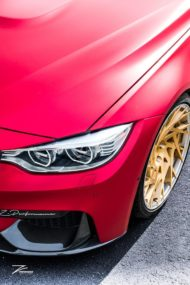 Satin Red BMW M3 F80 ZP.11 Felgen Tuning Z Performance Wheels 8 190x285 Perfekt? BMW M3 F80 in Satin Red auf Z Performance Felgen