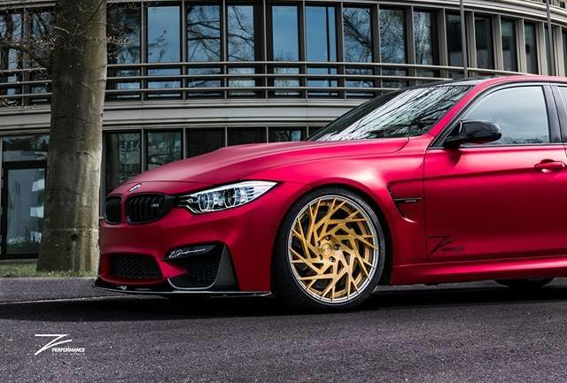 Satin Red BMW M3 F80 ZP.11 Felgen Tuning Z Performance Wheels 9 Perfekt? BMW M3 F80 in Satin Red auf Z Performance Felgen