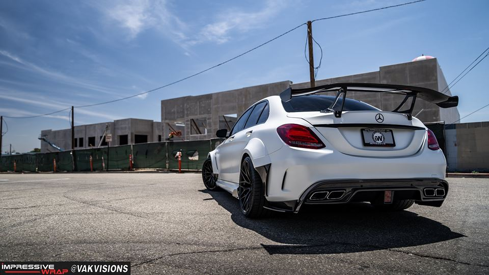 Darwinpro Wide Body Mercedes Benz C63s W205 Tuning 4 Fett   Darwinpro Widebody Kit am Mercedes C63s AMG