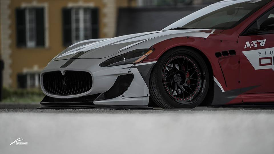 Liberty Walk Maserati GT Z Performance Wheels Airrex Tuning 6 Brutal   Liberty Walk Maserati GT auf Z Performance Wheels