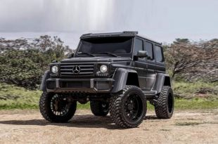 Mercedes Benz G500 4×4² 37 Zoll Tuning Black 1 2 310x205 Irres Monster   Mercedes Benz G500 4×4² auf 37 Zöllern
