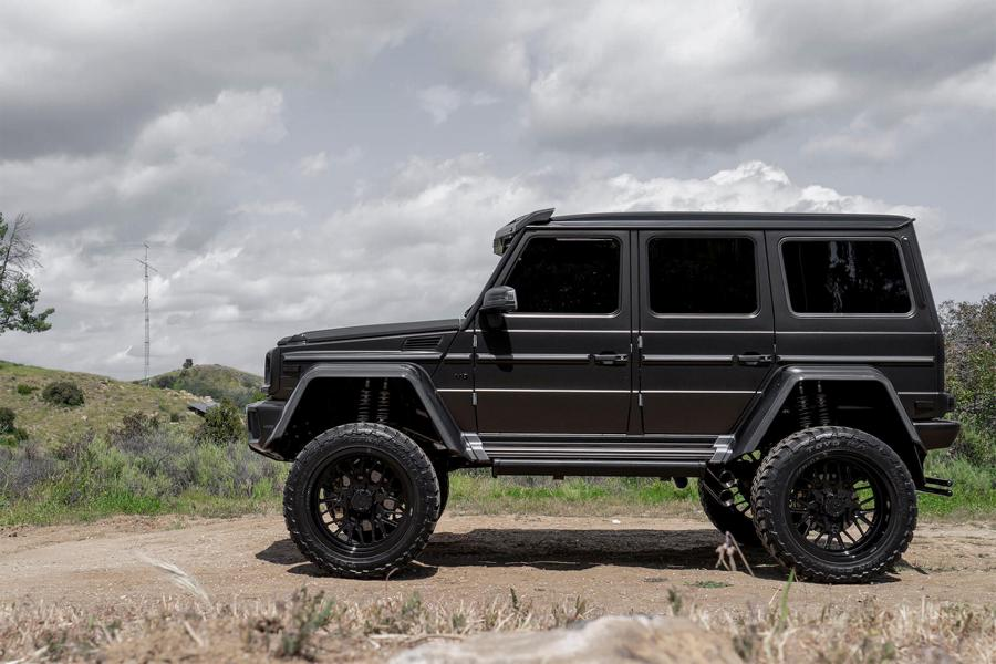 Mercedes Benz G500 4%C3%974%C2%B2 37 Zoll Tuning Black 2 Irres Monster   Mercedes Benz G500 4×4² auf 37 Zöllern