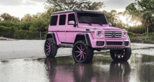 Pink Mercedes G 500 4x4² Chloe Hair Forgiato Tuning 2 310x165 Ladies Style   Mercedes G 500 4x4² in PINK by Chloe Hair