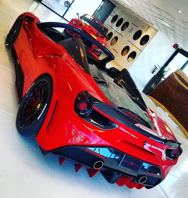 accordage haut de gamme kit de carrosserie svr 488 sur ferrari 488 gtb magazine. Black Bedroom Furniture Sets. Home Design Ideas