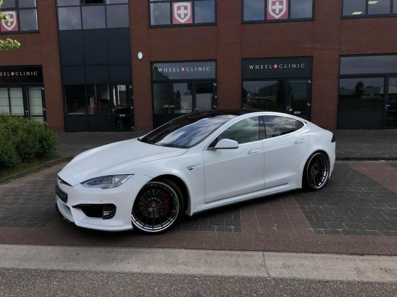 Tesla Model S Prior Widebody Tuning Klässen Wheels 6 Perfekt   Tesla Model S auf Klässen ID Wheels by Wheelclinic