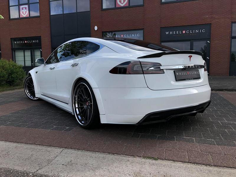 Tesla Model S Prior Widebody Tuning Klässen Wheels 8 Perfekt   Tesla Model S auf Klässen ID Wheels by Wheelclinic