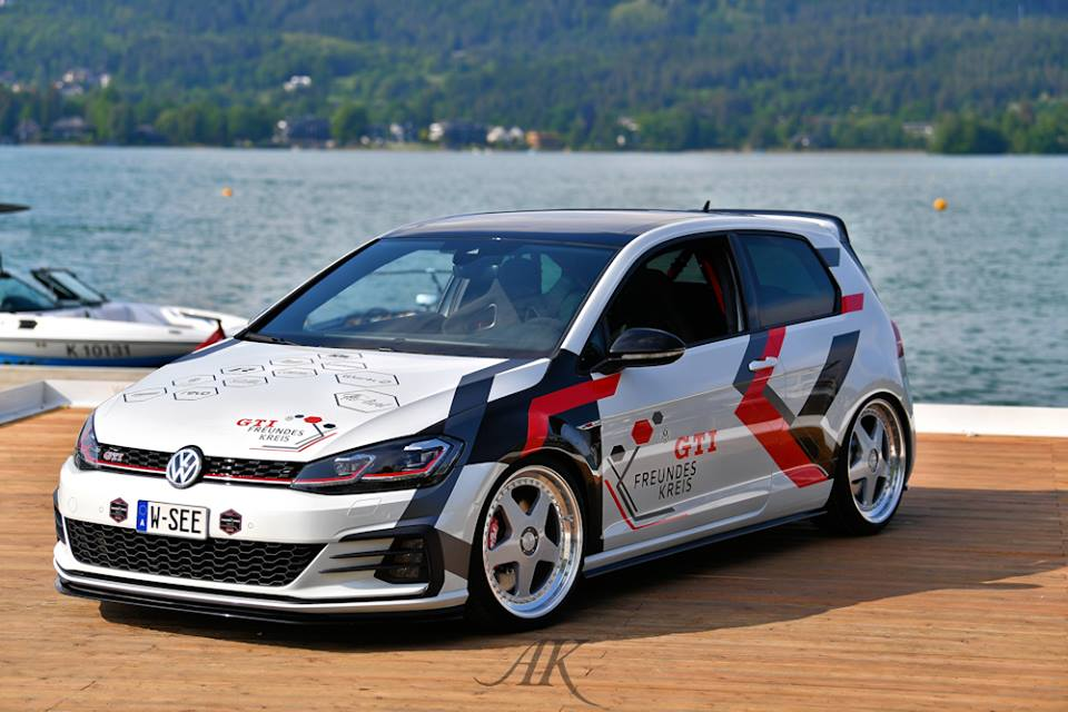 VW Golf GTI Tieferlegung Werk2 Tuning 2 Video: VW Golf GTI Tieferlegung by Werk2 am Wörthersee