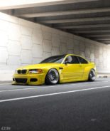 Widebody BMW E46 M3 CCW Wheels Phoenixgelb 1 155x184 Heftig   Widebody BMW E46 M3 auf CCW Wheels in Phoenixgelb