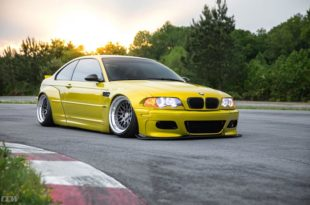 Widebody BMW E46 M3 CCW Wheels Phoenixgelb 12 310x205 Heftig   Widebody BMW E46 M3 auf CCW Wheels in Phoenixgelb