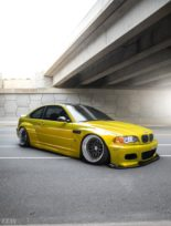 Widebody BMW E46 M3 CCW Wheels Phoenixgelb 2 155x204 Heftig   Widebody BMW E46 M3 auf CCW Wheels in Phoenixgelb