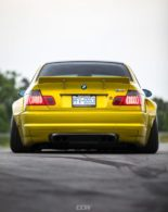 Widebody BMW E46 M3 CCW Wheels Phoenixgelb 6 155x195 Heftig   Widebody BMW E46 M3 auf CCW Wheels in Phoenixgelb