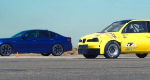 Dragrace BMW F90 M5 Diesel Seat Arosa 310x165 Video: Dragrace   BMW F90 M5 vs. Diesel Seat Arosa