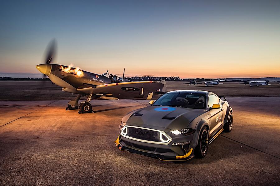 Ford, Vaughn Gittin Jr. Race to the Clouds at Goodwood with Eagle Squadron Mustang GT Ahead of AirVenture Charity Event