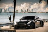 Nissan GT R R35 Widebody Airride Platinum Design Wheels 23 155x103 Black Beast: Nissan GT R (R35) Widebody auf 21×13,5 Zöllern