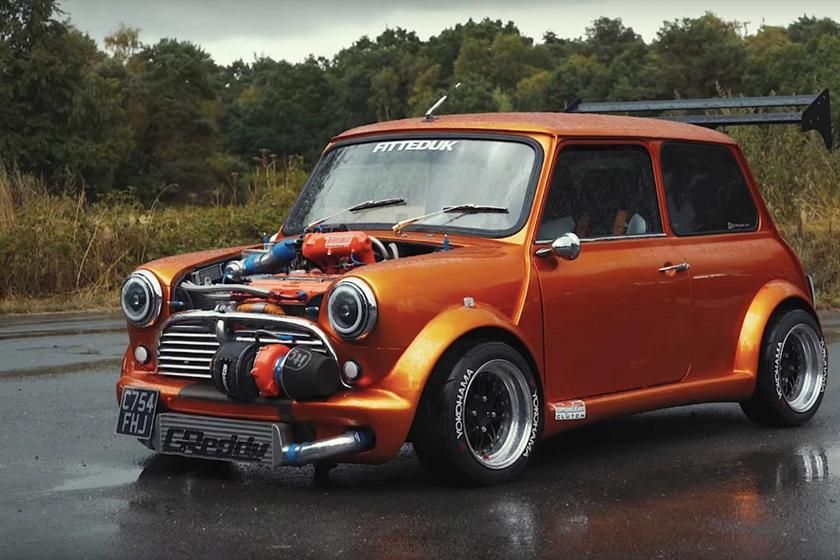 360 PS Austin Mini 16 Liter GT3076R Turbo Tuning 7 Irre: 360 PS Austin Mini   1,6 Liter und GT3076R Turbo
