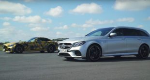 672 PS Mercedes Benz AMG GT R vs. E63 S W213 310x165 Video: 950 PS Nissan GT R vs. Lamborghini Huracan BiTurbo
