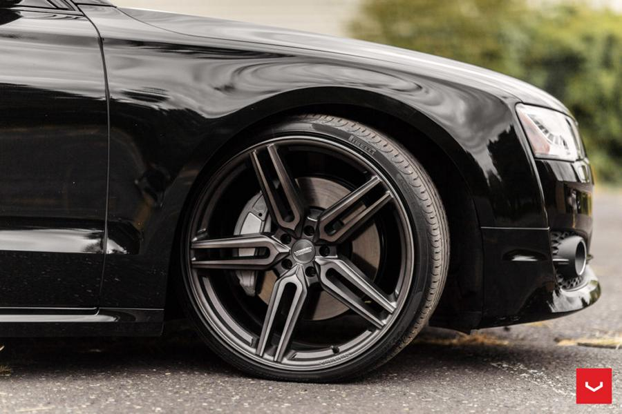 Audi A8 4D tuning Vossen Wheels HF 1 rims lowering 47 Popular in the tuning scene what are black wheels?