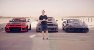 Camaro ZL1 vs. Corvette ZR1 vs. Dodge Demon 310x165 Video: Chancenlos   BMW F90 M5 gegen F85 X5 M