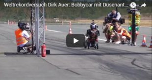 Dirk Auer Weltrekord Bobby Car 310x165 Video: Dyno am Limit   3.500 PS Nissan GT R von ETS