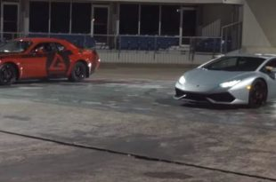 Kompressor Lamborghini Huracan vs. Dodge Demon 1 310x205 Video: Dragrace   Kompressor Lamborghini Huracan vs. Dodge Demon