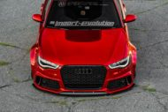 Vossen Avery Red Chrom Audi A6 C7 Airride Tuning 3 190x127 Vossen Alus am Avery Red folierten Audi A6 mit Airride