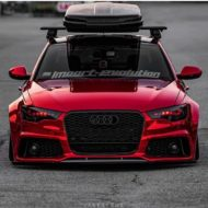 Vossen Avery Red Chrom Audi A6 C7 Airride Tuning 5 190x190 Vossen Alus am Avery Red folierten Audi A6 mit Airride