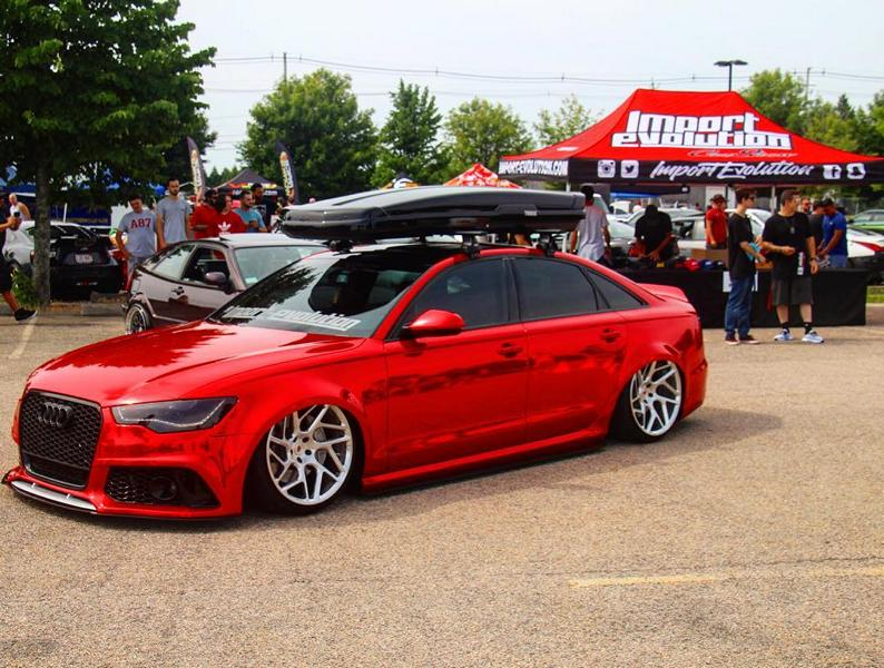 Vossen Avery Red Chrom Audi A6 C7 Airride Tuning 7 Vossen Alus am Avery Red folierten Audi A6 mit Airride