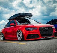 Vossen Avery Red Chrom Audi A6 C7 Airride Tuning 8 190x177 Vossen Alus am Avery Red folierten Audi A6 mit Airride