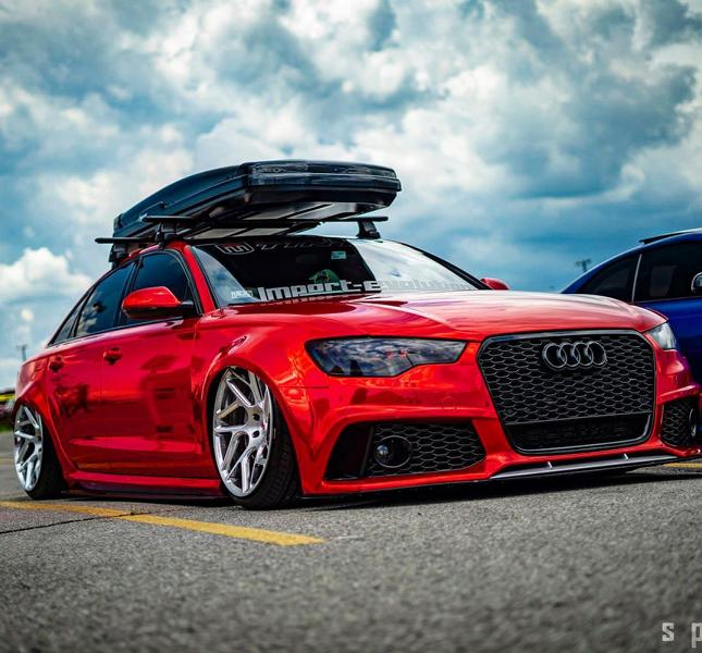 Vossen Avery Red Chrom Audi A6 C7 Airride Tuning 8 Vossen Alus am Avery Red folierten Audi A6 mit Airride