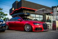 Vossen Avery Red Chrom Audi A6 C7 Airride Tuning 9 190x127 Vossen Alus am Avery Red folierten Audi A6 mit Airride