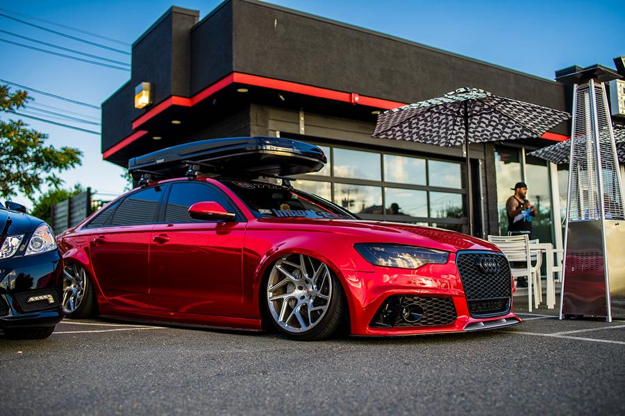 Vossen Avery Red Chrom Audi A6 C7 Airride Tuning 9 Vossen Alus am Avery Red folierten Audi A6 mit Airride