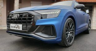 AUDI Q8 Vollfolierung matt metallic blau Tuning 8 310x165 MC Folia Avery Vollfolierung am 2019 Dacia Duster II