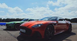 Aston Martin DBS Superleggera vs. Mercedes AMG GT R 310x165 Video: 900 PS Ford Mustang vs. Dodge Challenger Hellcat