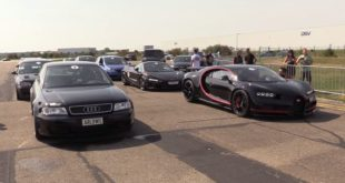 Bugatti Chiron 4 5x4 Video: 310 PS BMW M165 F750. بورش 5 Turbo S (90)