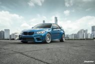 BMW M2 Long Beach Blue Forgestar S18 Felgen 1 190x127 BMW M2 (F87) in Long Beach Blue auf Forgestar S18 Felgen