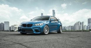 BMW M2 Long Beach Blue Forgestar S18 Felgen 1 310x165 BMW M2 (F87) in Long Beach Blue auf Forgestar S18 Felgen