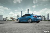 BMW M2 Long Beach Blue Forgestar S18 Felgen 2 190x127 BMW M2 (F87) in Long Beach Blue auf Forgestar S18 Felgen