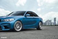 BMW M2 Long Beach Blue Forgestar S18 Felgen 4 190x127 BMW M2 (F87) in Long Beach Blue auf Forgestar S18 Felgen