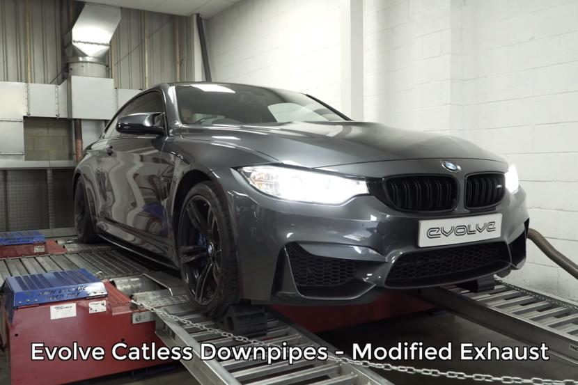 BMW M4 Evolve Chiptuning Downpipe Video: BMW M4 mit Evolve Chiptuning und Downpipe
