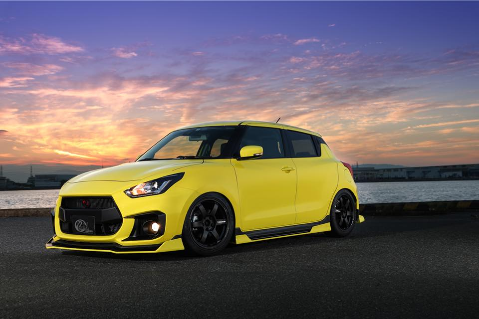 Kuhl Racing 2019 Suzuki Swift Sport Bodykit Airride 1 Fertig   Kuhl Racing 2019 Suzuki Swift Sport mit Bodykit