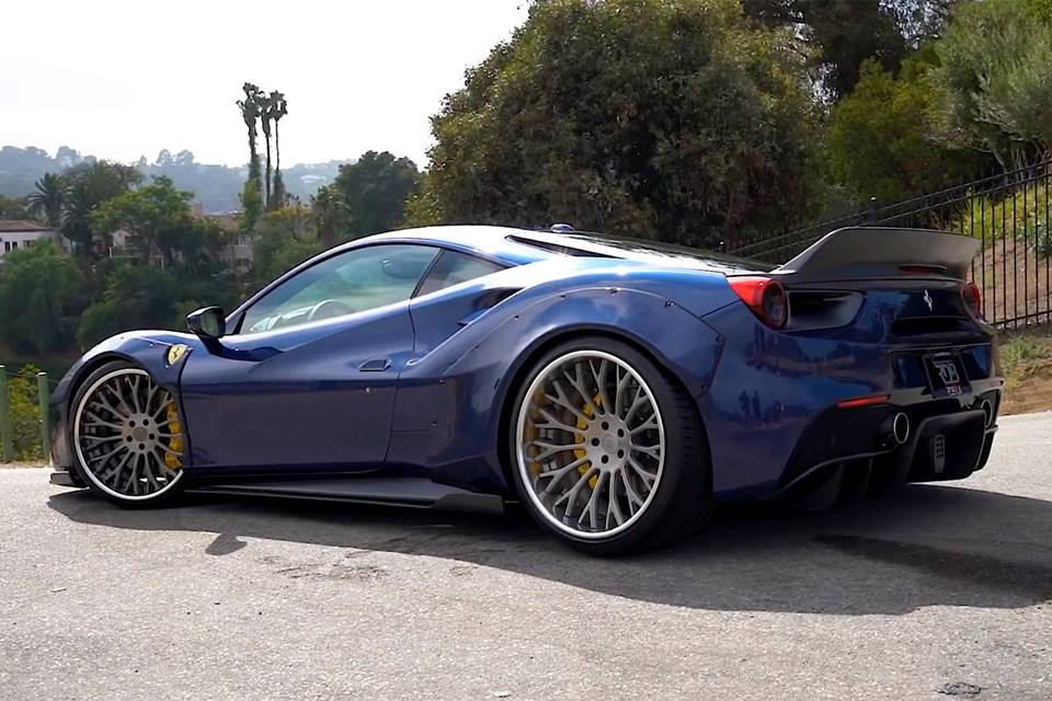 Liberty Walk Widebody Ferrari 488 GTB Forgiato RDB ECL Tuning 8 RDB LA Liberty Walk Widebody Ferrari 488 auf Forgiatos