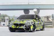 Strasse Wheels camouflage BMW M4 Coupe Tuning SV1 Felgen 4 190x127 Krasse Optik   Strasse Wheels camouflage BMW M4 Coupe