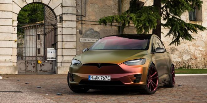 Schrill: Vossen Forged CG-203 Felgen am Tesla Model X