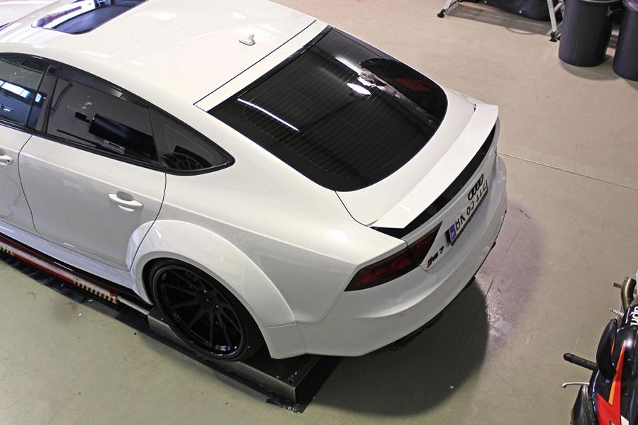 Widebody Audi RS7 PD700 Prior Tuning Rennen Forged 10 Besonders wide: Widebody Audi RS7 vom Tuner M&D