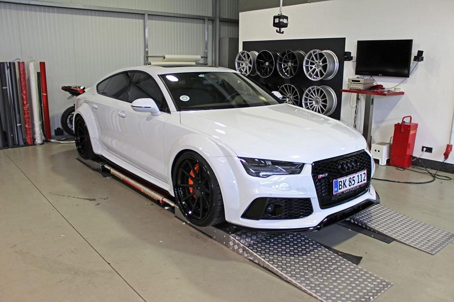 Widebody Audi RS7 PD700 Prior Tuning Rennen Forged 19 Besonders wide: Widebody Audi RS7 vom Tuner M&D
