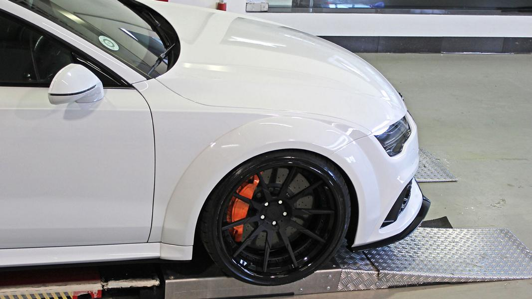 Widebody Audi RS7 PD700 Prior Tuning Rennen Forged 8 Besonders wide: Widebody Audi RS7 vom Tuner M&D