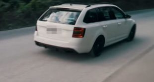 2014 Skoda Octavia RS mit 500 PS 585 NM 310x165 Video: Streetrace   Nissan GT R vs. Mitsubishi Evo IX