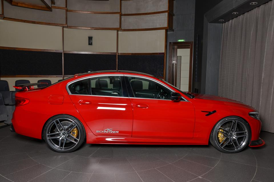 AC Schnitzer Tuning BMW M5 F90 Competition Imola Rot 12 Schnitzer Parts am BMW M5 (F90) Competition in Imolarot