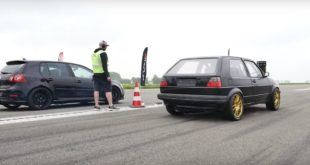AWD VW Golf V vs Golf 2 310x165 Video: Vollcarbon Dodge Challenger jetzt mit 1.400 PS