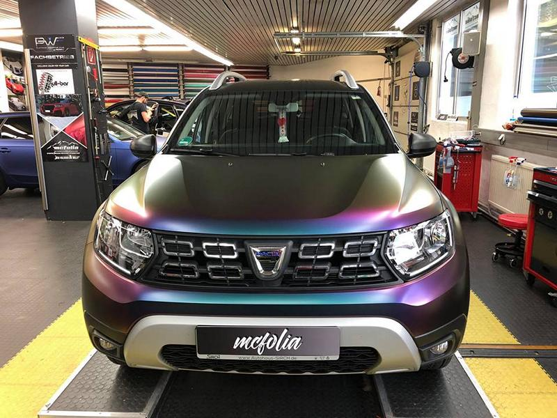 Avery Vollfolierung 2019 Dacia Duster II Tuning 2 MC Folia Avery Vollfolierung am 2019 Dacia Duster II